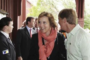 Green Ministers. Denmark´s Connie Hedegaard and Sweden´s Andreas Carlgren.  Photo: Gunnar Seijbold/Government Offices